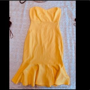 Fashion nova size s yellow dress